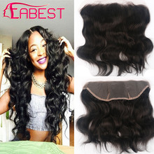 Brazilian Virgin Hair Lace Frontal 13×4 Body Wave Lace Frontal Closure free shipping human hair ear to ear lace closure