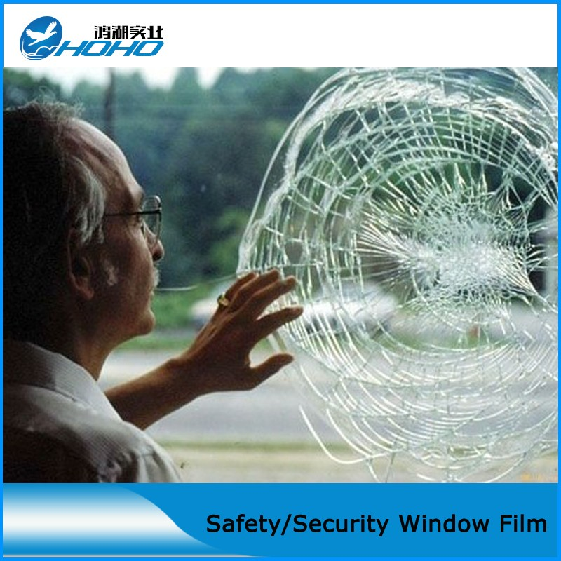 High quality 8mil 1.52*20M Safety Film/Glass Protection Film/security film/Transparency Glass Protector, house/car