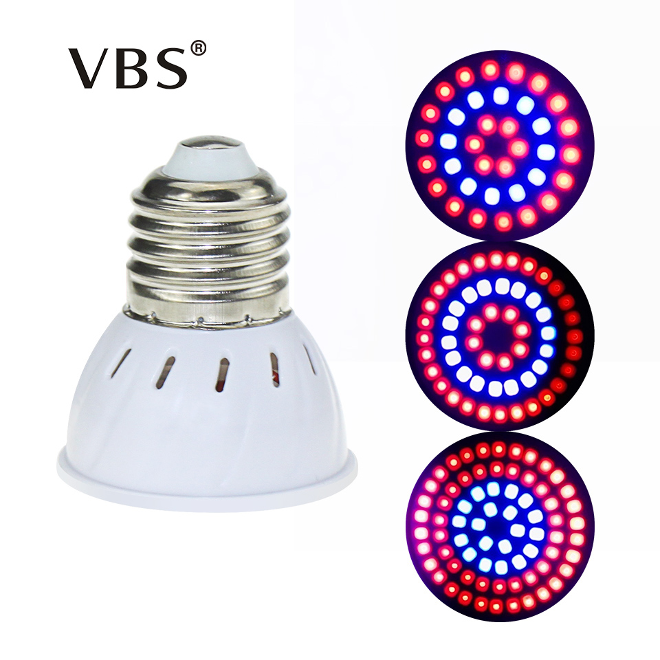 LED Grow Light Full Spectrum Fitolampy 36 54 72Leds E27 GU10 MR16 Led Plant Grow Lamp Light 220V For Hydroponics Greenhouse
