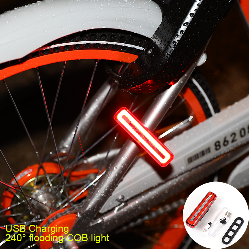 USB Rechargeable Bicycle Head Light COB Waterproof Comet High Brightness Red  LED 800 lumen Front / Rear Bike Safety Light Pack hot sale 3x cree xml t6 led headlamp bike light 5000 lumen 18650 led head light 4x18650 battery pack charger bike rear light