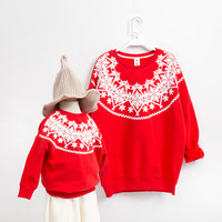 Family Matching Clothes Winter Christmas Sweater Hoodies Mother And Daughter Clothes Family Look Outfits Christmas Clothes