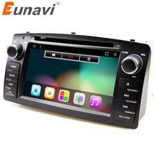 Eunavi 4 ядра 2 Din Android 7,1 dvd-плеер автомобиля Радио стерео для Toyota Corolla E120 Byd F3 2 г оперативной памяти С Сенсорный экран Wifi Bt