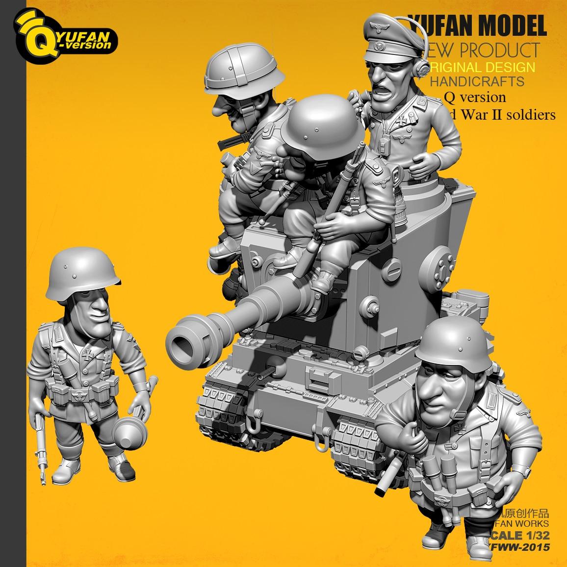 Oyuncaklar ve Hobi Ürünleri'ten Modeli Yapı Setleri'de Yufan Model 1/32 Asker Q versiyonu asker 6 artı tankı seti Yfww 2015'da  Grup 2