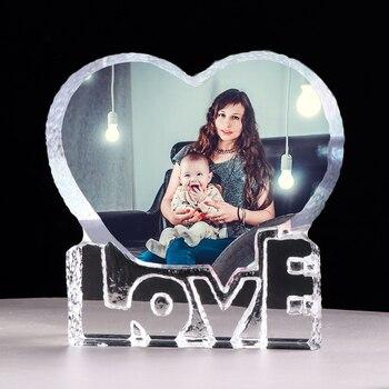 Marco de fotos personalizado con corazón de amor, marco de fotos personalizado, regalo de boda para invitados, recuerdo de cumpleaños, regalo del Día del Padre