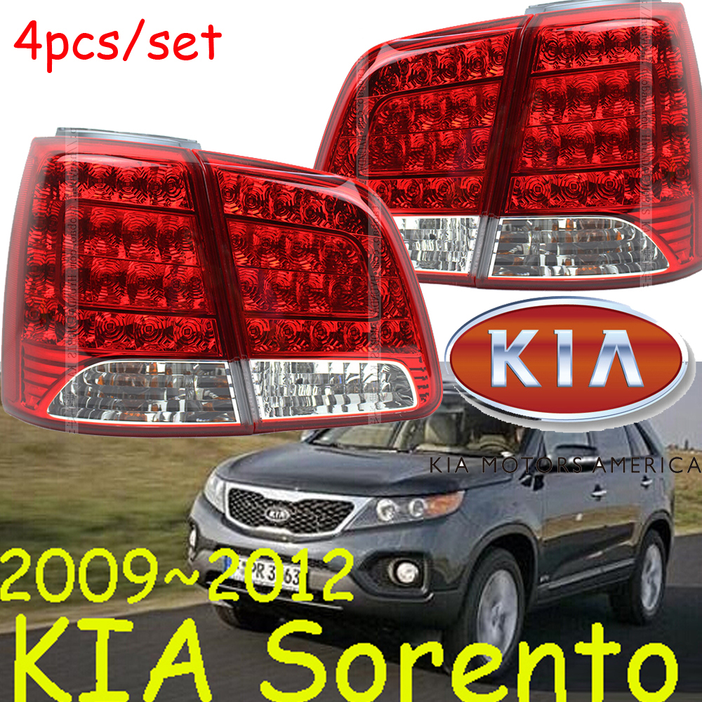 Sorento taillight,LED,SUV,2009~2012,Free ship!4pcs/set,Sorento rear light,Ceed,Sorento,cerato,SportageR car styling sorento taillight 2009 2012 free ship 4pcs sorento fog light chrome sorento tail lamp car detector sorento