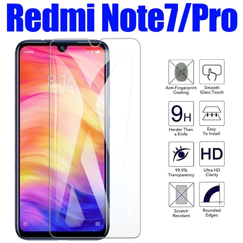 Protective glass for Xiaomi redmi note 7 film tempered glas xiaomei xiomi ksiomi readmi not 7pro screen protector xiami tremp 9h