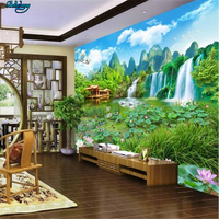 Beibehang Large Scale Custom Wallpaper Huge Landscape Fairyland 3D Landscape Painting TV Wall Decoration Painting