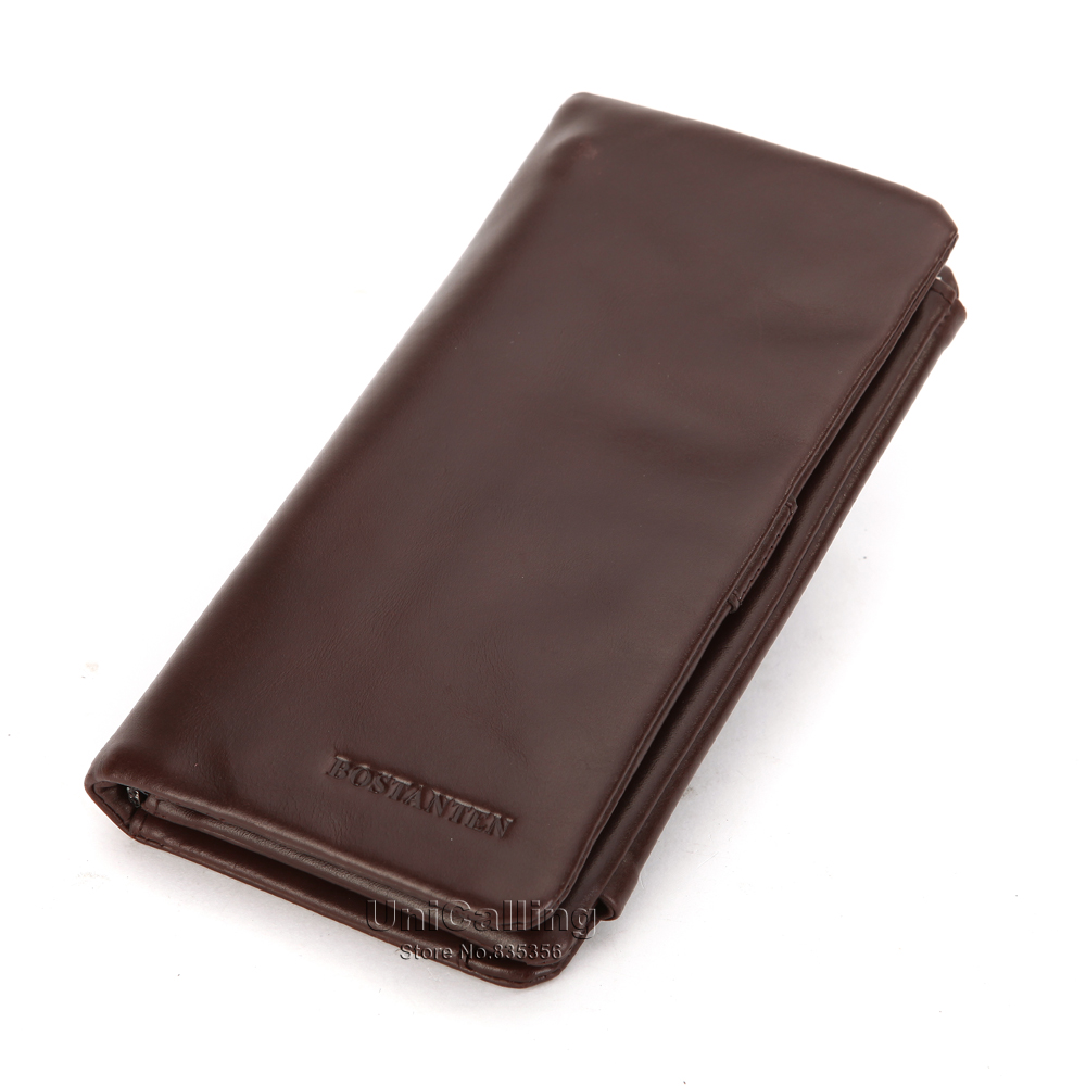 ФОТО Brand men genuine leather wallet vintage & fashion men long high-end whole genuine cowhide wallet 3 folders large capacity