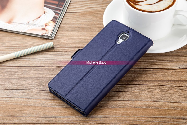 Xiaomi Mi4 leather stand case (9)