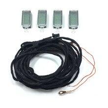 Оригинальные светодиодные внутренние лампы Footwell и кабель для Golf Jetta MK5 MK6 Passat B6 B7 Tiguan Octavia Leon 3AD 947 409, 4 светодиодный т.