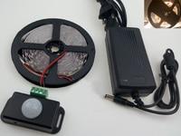 6A PIR Motion Sensor Lamp Strip DC 12V 5050 Flexible Reel Lights Strips Warm White Cold