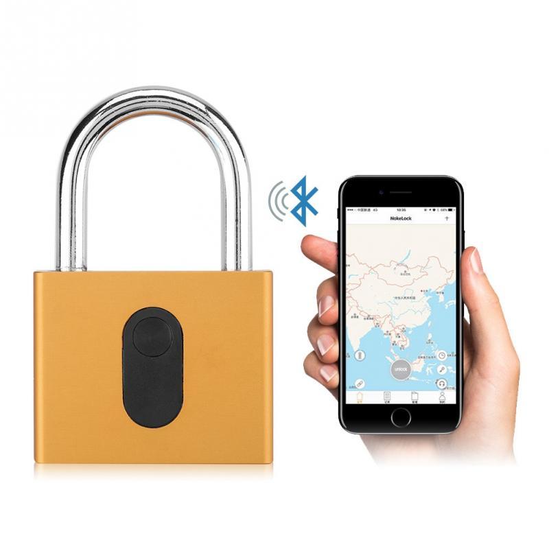 Keyless Anti-theft Smart Lock Wireless Waterproof Padlock Mobile Phone Bluetooth APP Control