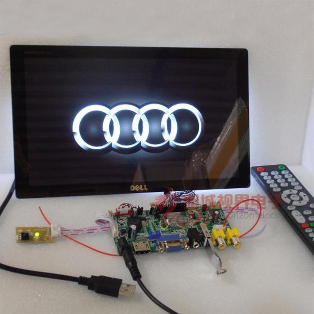 10 pouce 1366*768 IPS Capacitif Tactile Écran avec Haut-Parleur USB Lecteur De Voiture HDMI VGA AV LCD Module D'affichage moniteur Ensemble DIY Kit