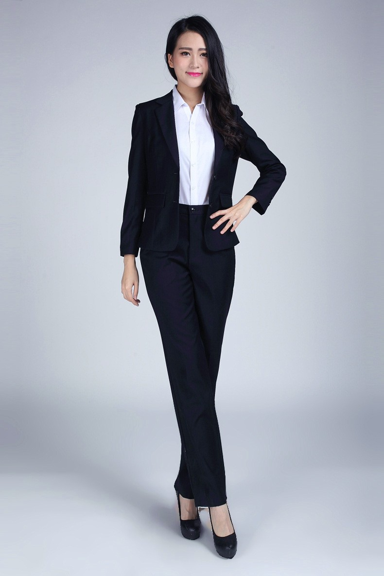 Blue Womens Pant Suit - Go Suits
