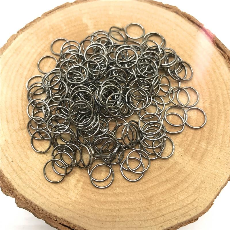 4/6/8/10 мм 500/300/200/100 шт Металлические разомкнутые кольца для прыжков Разделение кольца Разъемы для самостоятельного изготовления ювелирных изделий - Цвет: Grey