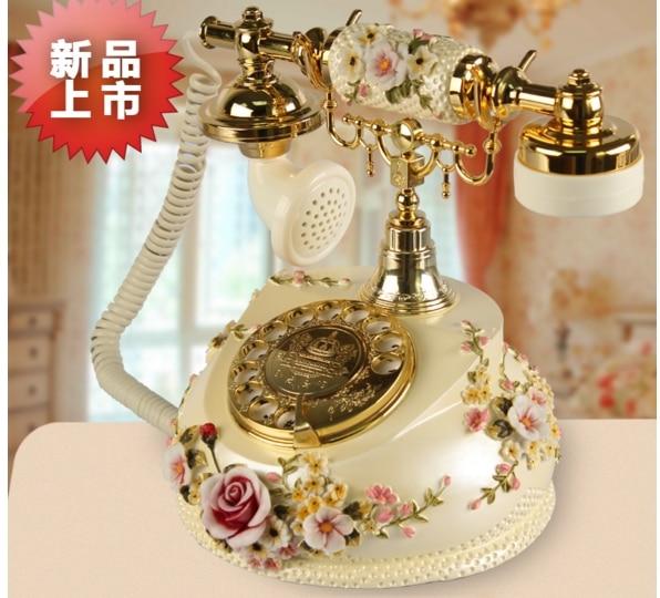 JSD 12 Europe Home phone landline antique Rotation dial number telephones