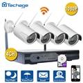 Kit NVR 4CH Sem Fio Plug And Play P2P 1080 P HD Ao Ar Livre IR Sistema de Vigilância de Vídeo de Segurança CCTV Câmera de Visão Noturna IP WI-FI