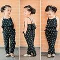 Meninas Cinto Cinto Em Forma de Coração Amo Moda Macacões Calças Siameses Calças Desgaste das Crianças Vestuário de Moda Verão Costas Expostas