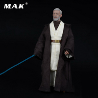 1 6 Star Wars Jedi Warrior Obi Wan Suits Clothes Weapon Sword Set For 12 Male