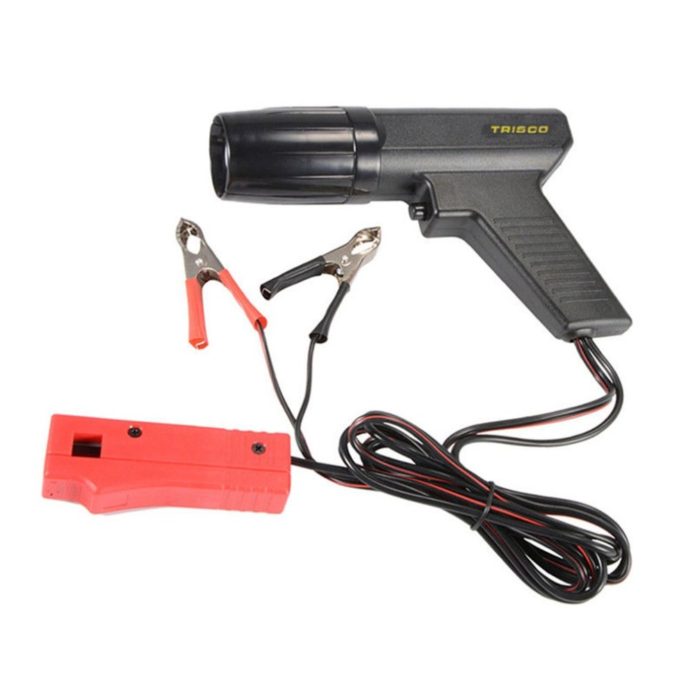 New 12V Professional Car Motorcycle Engine Timing Light Ignition High Beam Timing Strobe Light Inductive Timing Lamp Detector