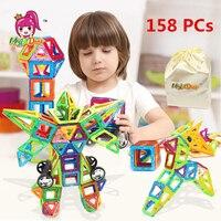 MylitDear 158 PCs Mini Size Enlighten Magnetic Designer Bricks Toy Educational DIY Building Blocks Toys For
