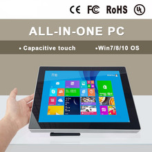 Fanless and embedded 2017 latest 12 inch touchscreen all in one pc computers with 1.8GHz, usb host 2.0 Resistive touch