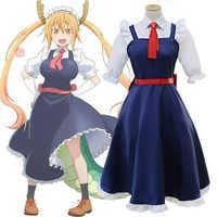Costume de Cosplay de mlle Kobayashi, femme de chambre Dragon Tohru Kobayashi san Chi, tenue de fête d'halloween