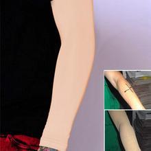 1 para tatuaż Cover Up rękawy uciskowe zespoły konserwacja elastyczne przedramię korektor rękawy Nylon ochrona UV Oversleeve