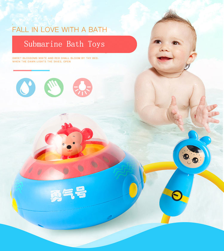 Fountain Baby Bath Toys Game for Children Kids Water Spraying Taps ...
