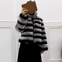 2016 fur coat short design o-neck long-sleeve rex rabbit hair women's