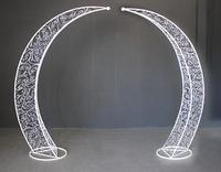 New Wedding Projects Tieyi Arch Sen Department Outdoor Wedding Stage Decoration Moon Flower Gate Happiness Gate.