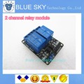 10pcs/lot 2-channel New 2 channel relay module relay expansion board 5V low level triggered 2-way relay module