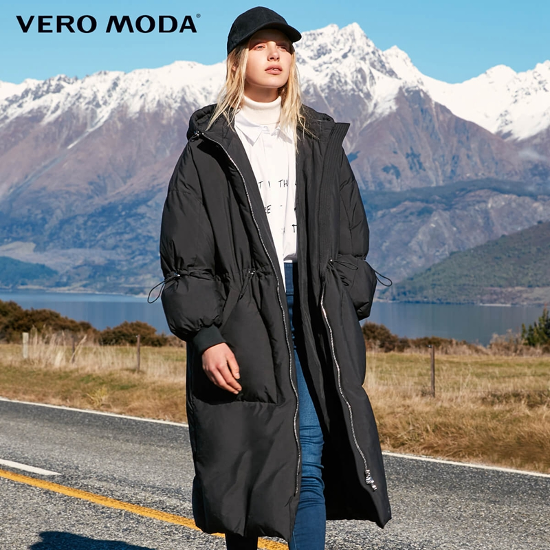 Vero Moda drawstring slim fit long down Jacket Women 318412514
