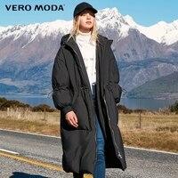Vero Moda drawstring slim fit long down Jacket Women   318412514