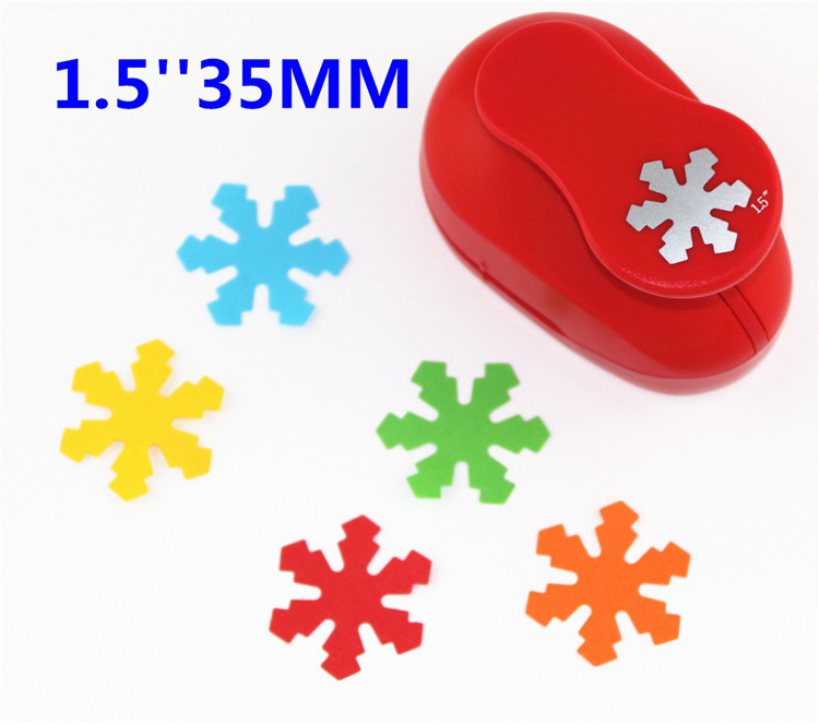 Snowflake 38mm Paper Cutter Scrapbook Embossing Device Kid Child Craft Tool Diy  Hole Punches Cortador De Papel  S2934-5