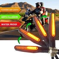 Fluindo luzes Flicker LED Âmbar motocicleta turn signal Lâmpada PARA honda shadow 1100 s1000r Indcator cafe racer honda corcel fz6|  -