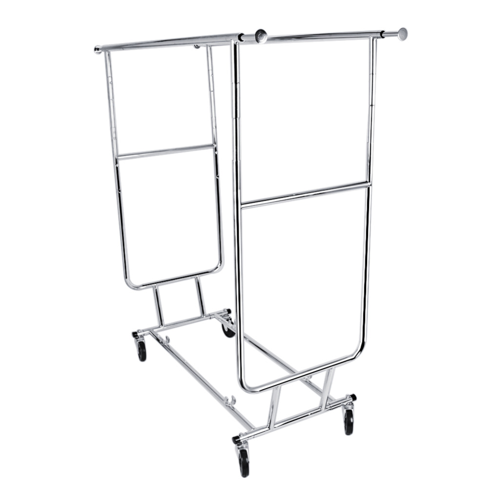 Portable wardrobe on wheels -  Portable Clothes Display Hanger Rolling Rack With Wheels Download