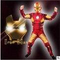 Горячая Железный Человек мышцы Костюм Ironman супергероя onesies для детей костюмы кино для человека хэллоуин косплей Подарок На День Рождения