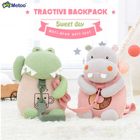 Metoo Plush Backpacks Tractive Backpack Stuffed Animal Cartoon Shoulder Bag Kids Doll Plush Children Toy For