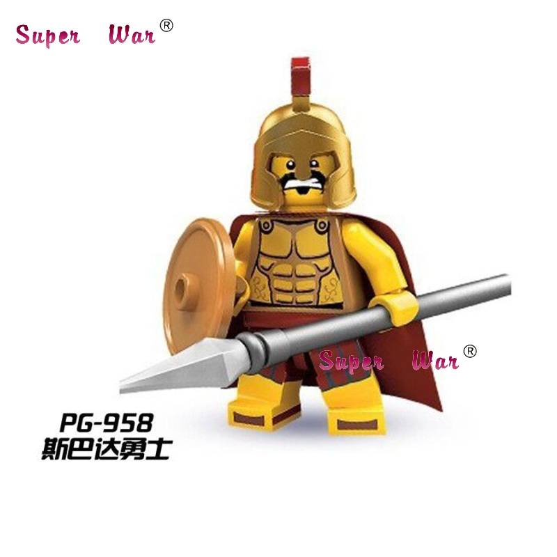 20pcs star wars Hero of Sparta Gladiatus Series building blocks figure bricks model Collection educational diy baby toy