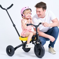 3 в 1 детская коляска детский трехколесный велосипед может сложить мини баланс автомобиля