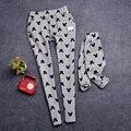 Семьи соответствующие наряды мультфильм штаны семья одежда мать и дочь одежды мама и детская одежда мультфильм одежда, Wy21