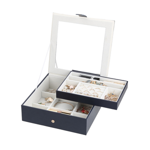 Image 5 - 2019 Nieuwe Mode Lederen Sieraden Doos Gift Box Voor Sieraden Verpakking Display Grote Prachtige Make Up Case Luxe Sieraden Organizer