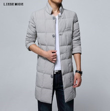 Russian Style Plus Size 4XL 5XL Warm Winter Jacket Men Long Stand Collar Casual Cotton Parkas Men Single Breasted Parka Hombre