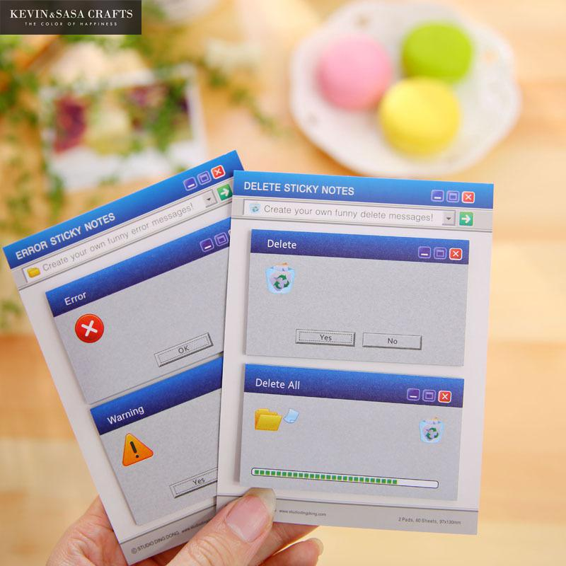 60Pages Computer System Shape Memo Pad Cute Sticker Notes School Office Stationery Paper Notes Sticky Pads Stationery Sticker цена