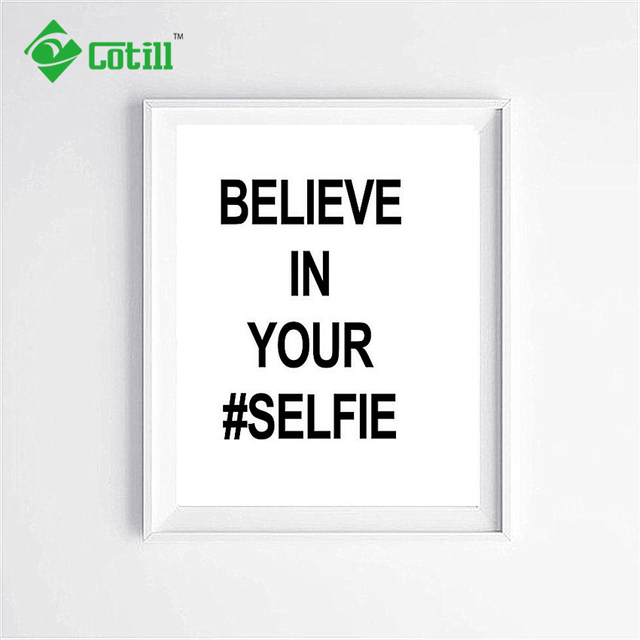 Cotill Believe In Your Self Canvas Painting Wall Art Canvas Art ...