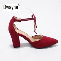 Big Size Women S Shoe 9cm High Heels UB3 Summer Flock Pumps Party Shoes For Women