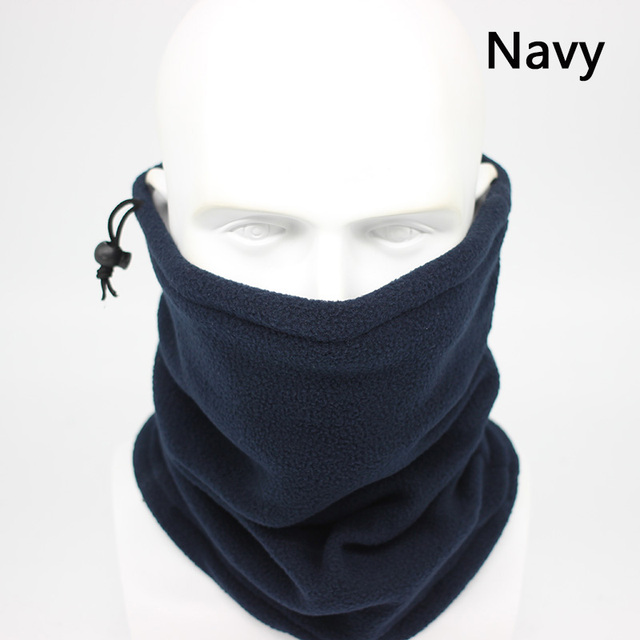 Fashion Men Winter Solid Bandana Headband Scarf Warm Multifunctional Seamless Tubular Head Scarf Face Mask Ring Scarf Unisex 1