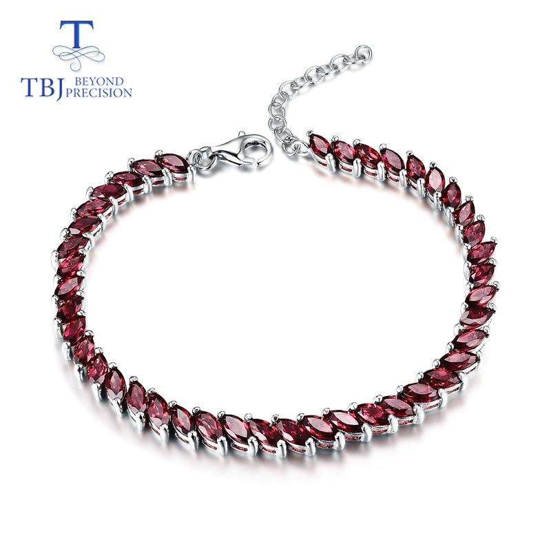 Naturel brésil 13ct rhodolite bracelet en argent sterling 925 bracelet luxe style bijoux fins pour femmes tenue de fête de mariage
