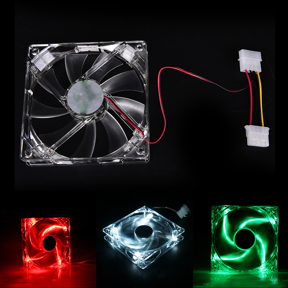 120mm Fans 4 LED 120 x 120 x 25mm 4pin Hydraulic Bearing LED Computer Case Cooling Fan for Computer Case computador cooling fan replacement for msi twin frozr ii r7770 hd 7770 n460 n560 gtx graphics video card fans pld08010s12hh